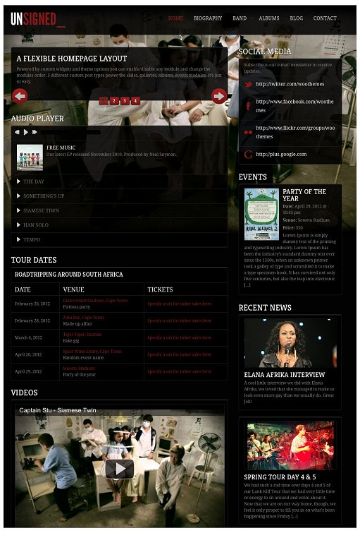 WooThemes Unsigned WordPress Theme