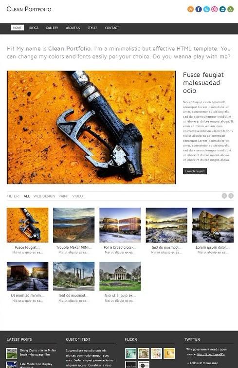 ThemeSnap Clean Portfolio Premium Drupal Theme