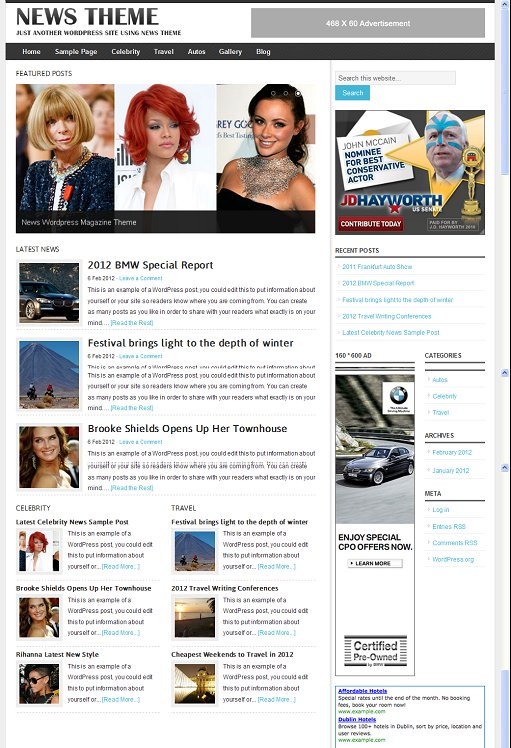 Clover Themes News Magazine WordPress Theme