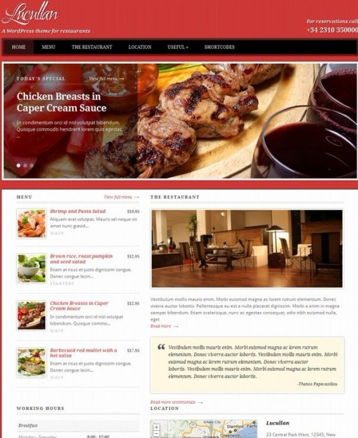 CSSIgniter Lucullan WordPress Theme For Restaurants, Bars