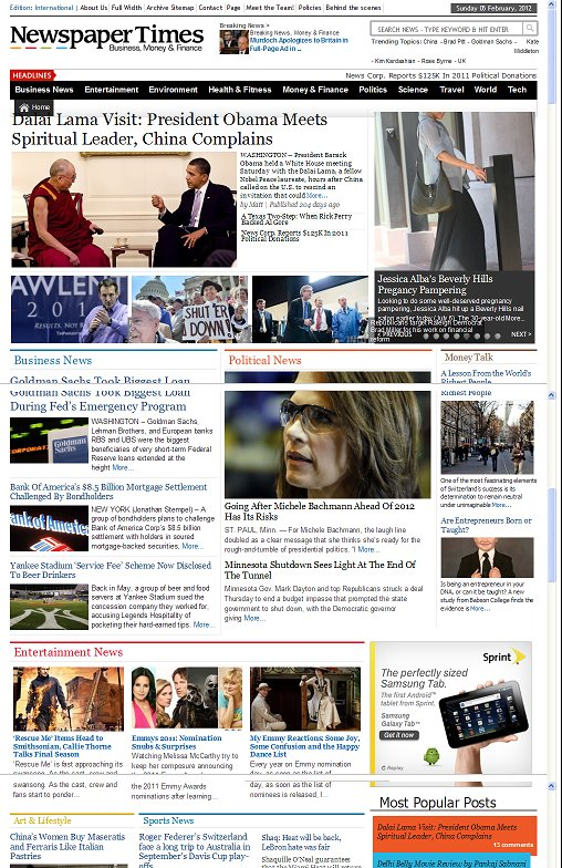 Magazine3 NewspaperTimes WordPress Magazine theme