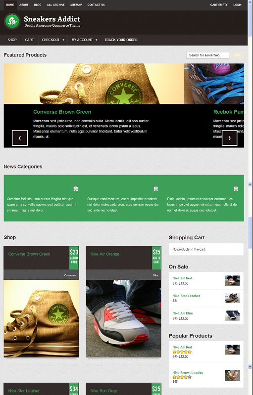 Colorlabs Sneakers Addict WordPress Fashion Ecommerce Theme