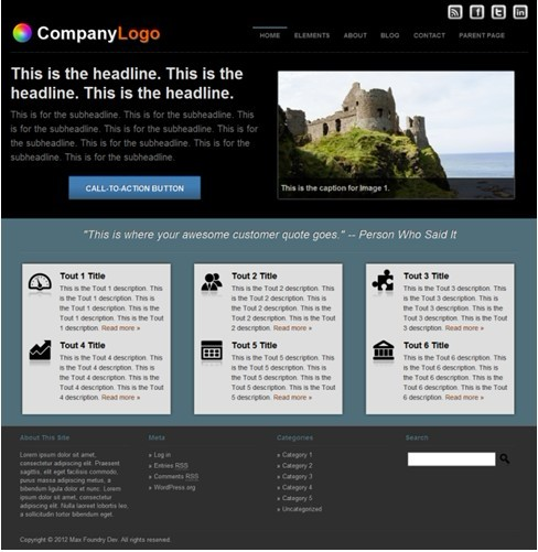 Max Foundry Tenenbaum Company WordPress Theme