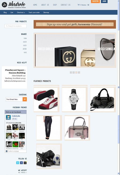 Colorlabs Wardrobe WordPress Fashion Business Theme