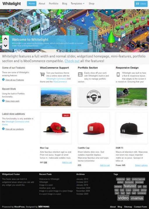 WooThemes Whitelight WordPress Responsive Business Theme