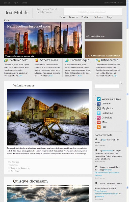 ThemeSnap Best Mobile Responsive Drupal Mobile Theme