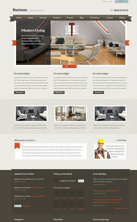 CSSIgniter BusinessOne WordPress Theme For Business Websites