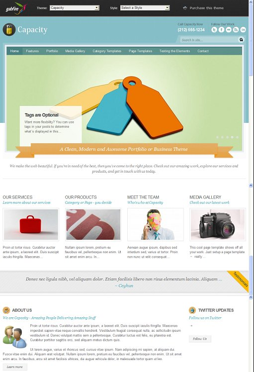Gabfire Capacity Business Portfolio WordPress Theme