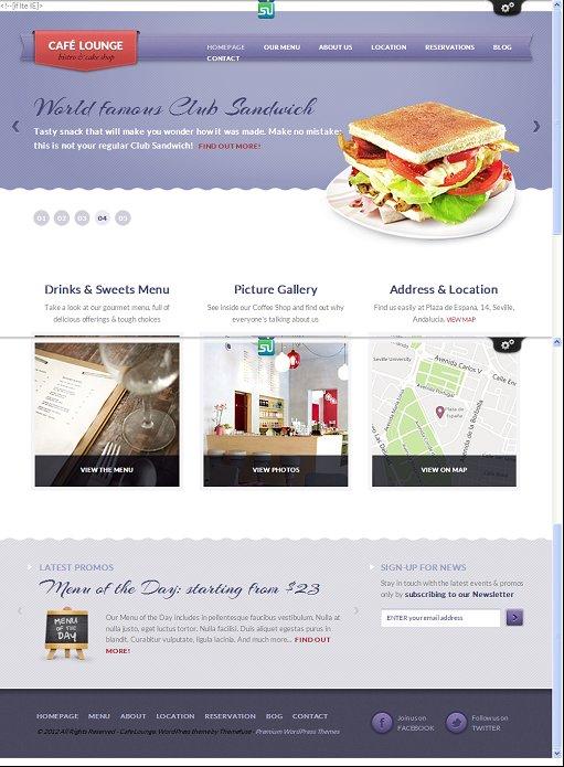 ThemeFuse Coffee Lounge WordPress Food Shop Theme