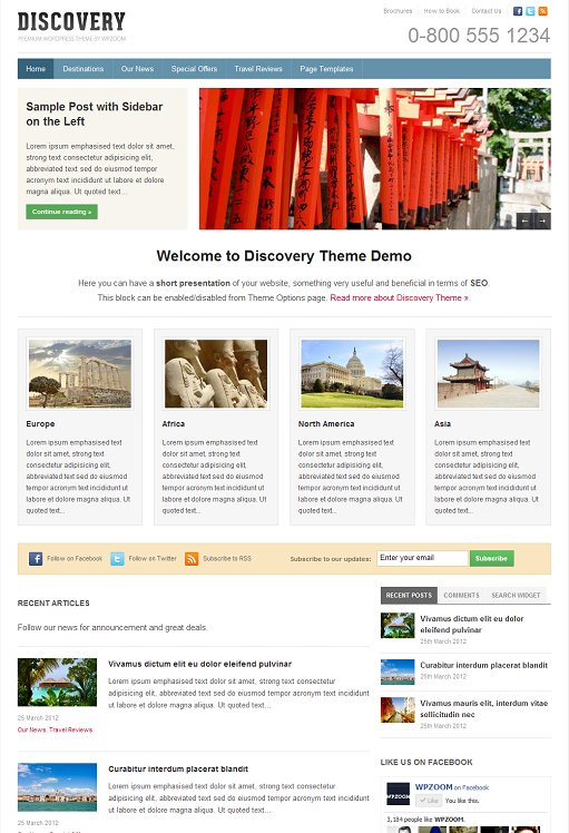 WPZOOM Discovery Travel Business WordPress Theme