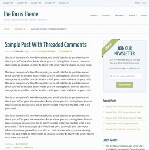 StudioPress Focus 2.0 Responsive Genesis Child WordPress Theme