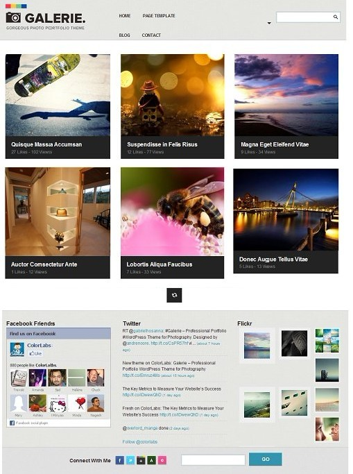 Colorlabs Galerie Photography WordPress Theme