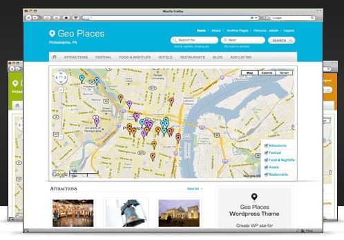 Templatic Geo Places v4 WordPress Theme
