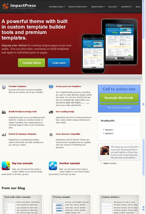 Chimera Themes ImpactPress WordPress Theme