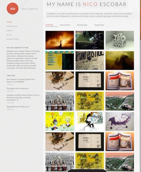 CSSIgniter Nico WordPress Theme For Portfolio sites