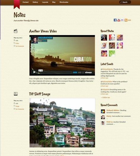 Themify Notes Responsive Tumblr WordPress Theme