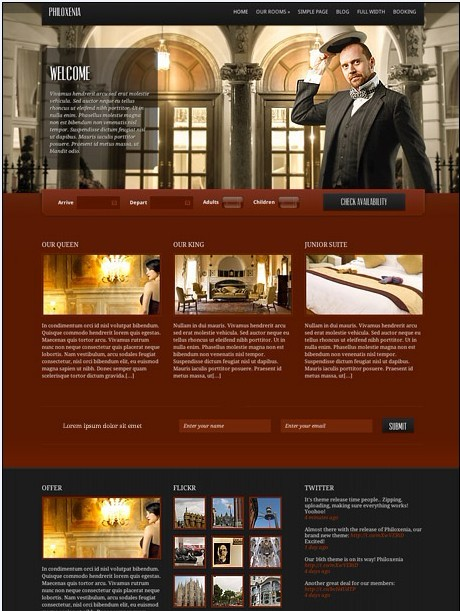 CSSIgniter Philoxenia WordPress Theme For Hotels Business