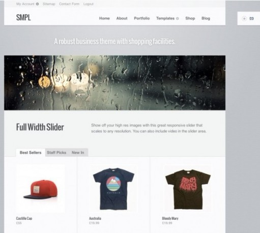 WooThemes SMPL WordPress WooCommerce Theme