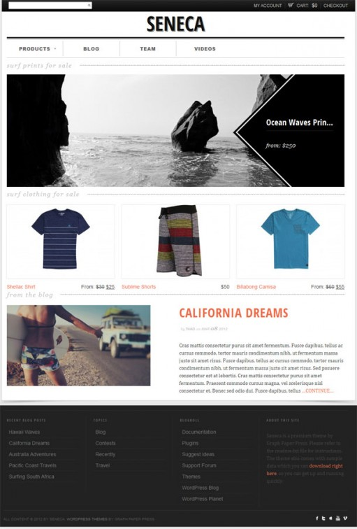 Graph Paper Press Seneca Premium Responsive E-commerce WP Theme
