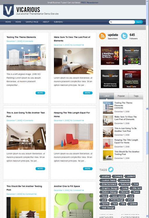 ThemeWarrior Vicarious Slick Magazine WordPress Theme