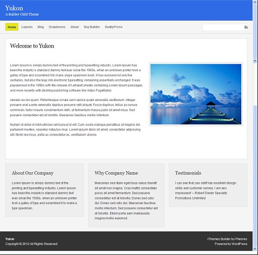 Yukon IThemes Builder Child theme for BuddyPress