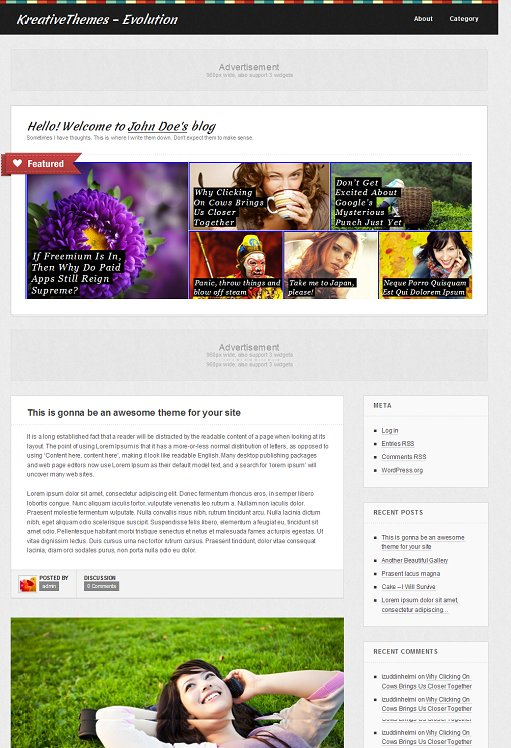 Kreative Themes Evolution Tumblr-Like Perosnal WordPress Theme