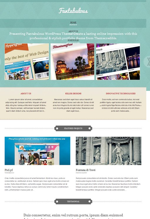 Themecredible Fantabulous Business Portfolio WordPress Theme