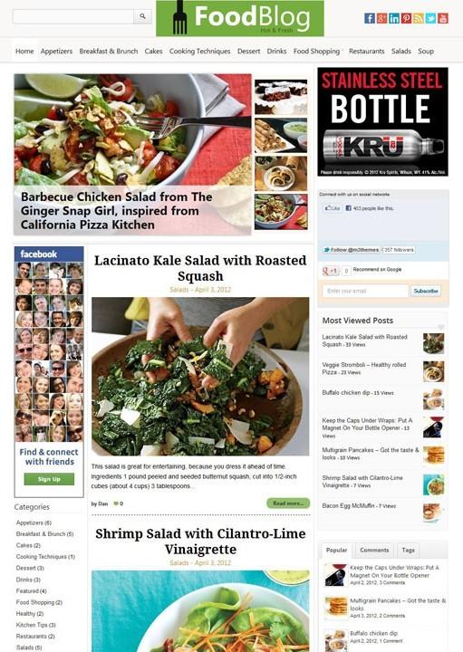 Magazine3 FoodBlog WordPress Food Magazine Theme