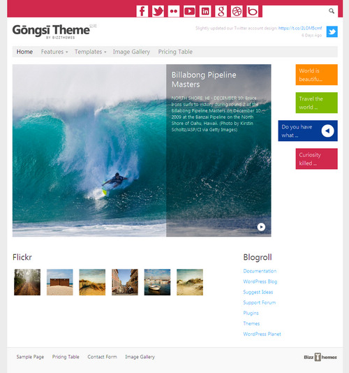 BizzThemes Gongsi Responsive Business WordPress Theme