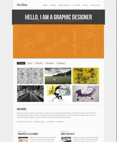 CSSIgniter Klou WordPress Theme For Creative Portfolio Sites