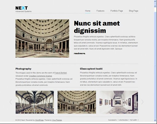 Viva Themes Next WordPress Theme For Business/ Portfolio