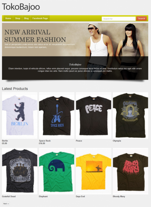 Tokokoo TokoBajoo WooCommerce Theme For WP Apparel Fashion Store