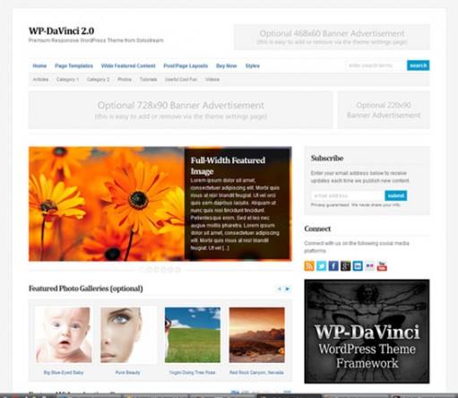 WP-DaVinci 2.0 Solostream WordPress Theme
