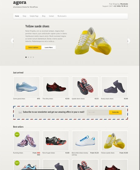 CSSIgniter Agora – A Responsive / eCommerce Theme For WordPress