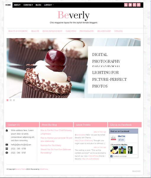 BluChic Beverly Minimalist Magazine Blog WordPress Theme
