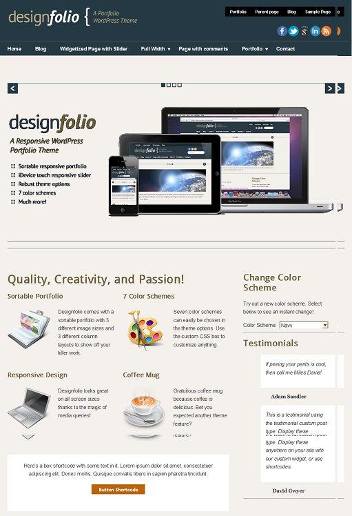 PressCoders DesignFolio WordPress Theme For Responsive Portfolios
