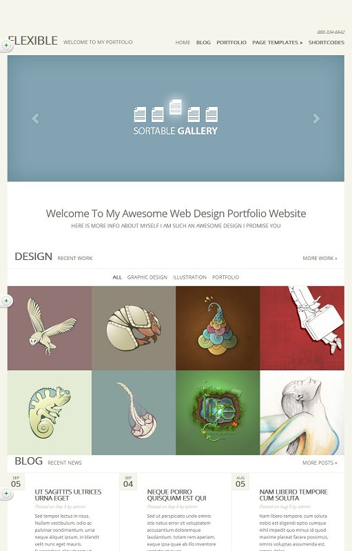 Elegant Themes Flexible WordPress Responsive Portfolio Gallery Theme
