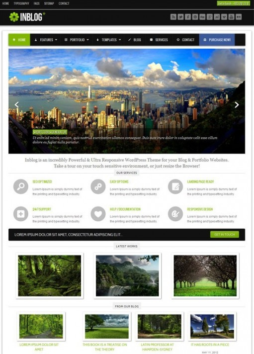 INBlog Responsive WordPress Portfolio Theme By CSSPRESS
