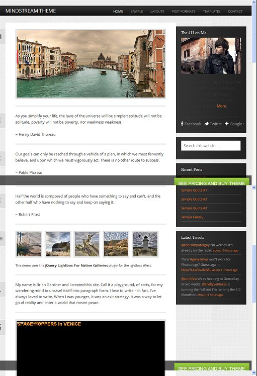StudioPress Mindstream Responsive Tumblelog WordPress Theme