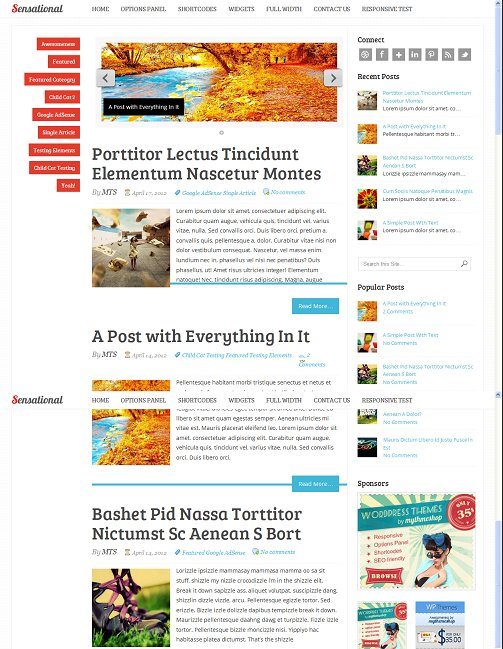 Sensational Magazine WordPress Theme By MyThemeShop