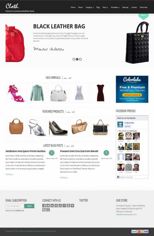 Colorlabs Cloth E-commerce Child WordPress Theme For Backbone Framework
