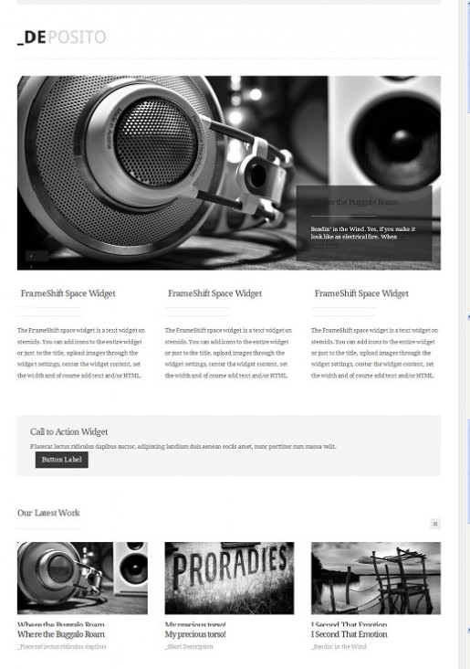 ThemeShift DePosito Portfolio WordPress Theme
