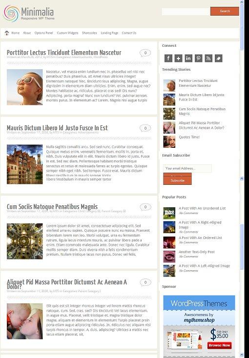 Minimalia WordPress Responsive Blog Theme From MyThemeShop
