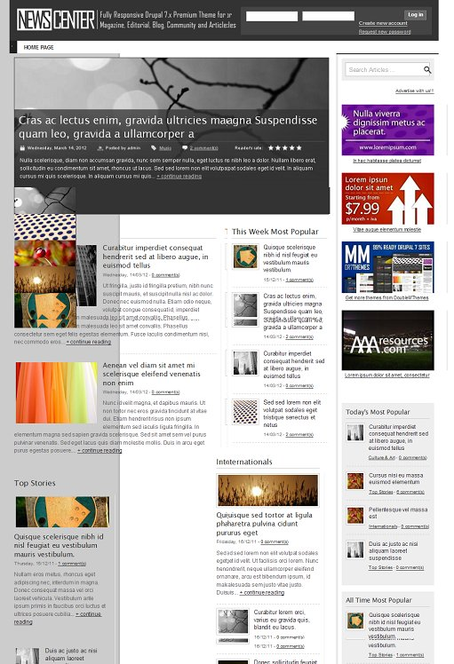 ThemeSnap NewsCenter Responsive Magazine Drupal Theme
