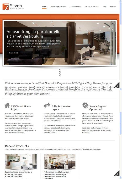 ThemeSnap Seven Full Responsive Business Drupal 7 theme