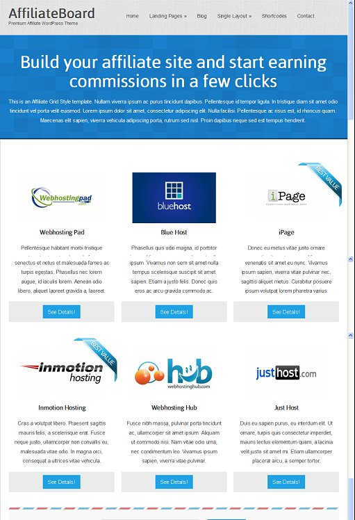 Colorlabs AffiliateBoard Premium Affiliate WordPress Theme