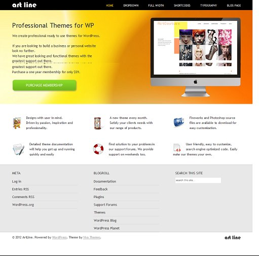 Viva Themes ArtLine WordPress Theme For Business Company
