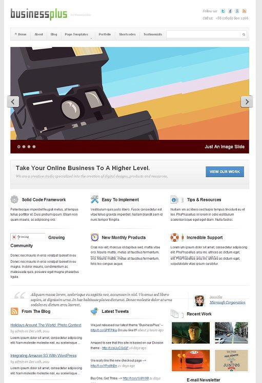 Theme Junkie BusinessPlus WordPress Business Theme For Portfolio Agency