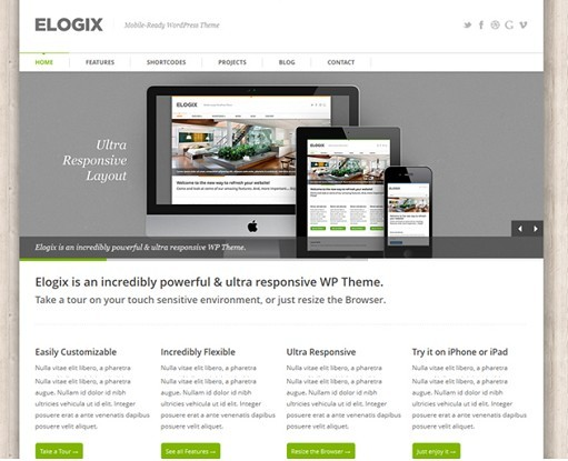 Elogix Responsive Business WordPress Theme : ThemeForest
