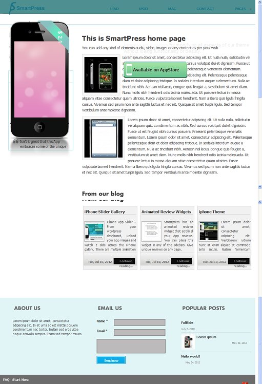 Chimera Themes Smartpress iPhone App Store WordPress Theme